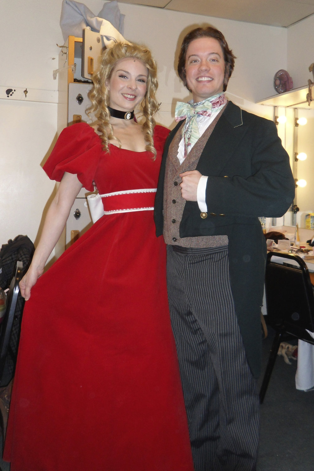 Katrina van Tassel and young Scrooge.