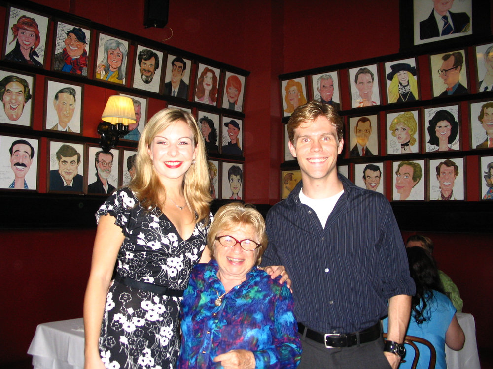 With Dr. Ruth & my co-star/husband on opening night at Sardi's.