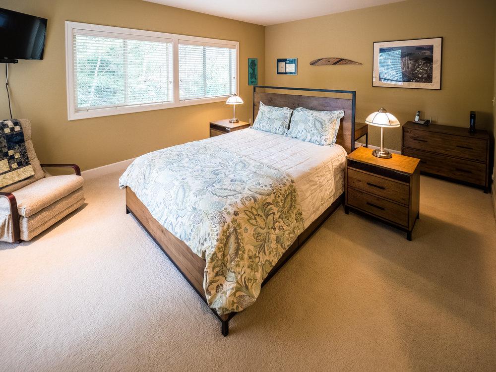 Master suite includes walk-in California closet and 5 piece bath.