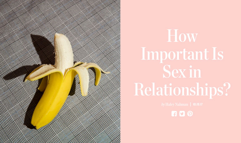 MAN REPELLER - How Important Is Sex in Relationships?