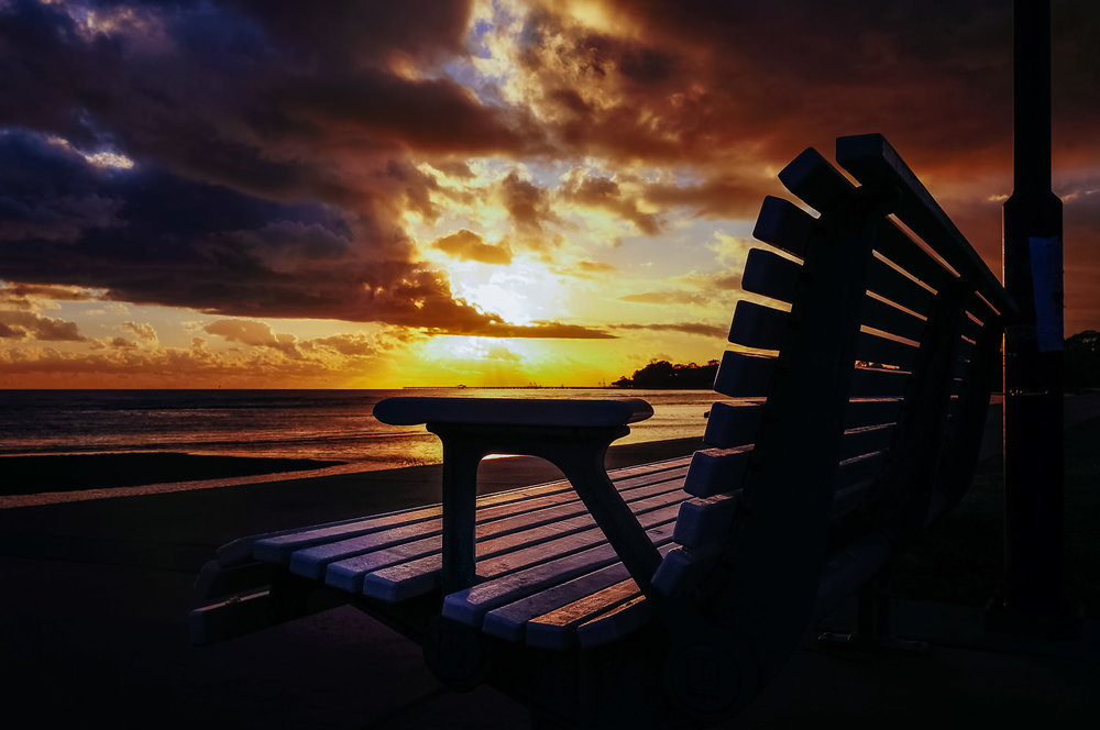 A Bench with a Million-Dollar View, Sandgate