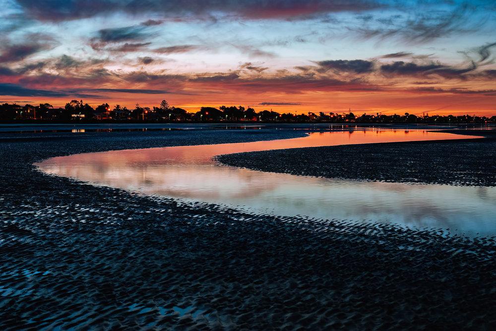 Blood Red River: Sunset & Low Tide, Sandgate