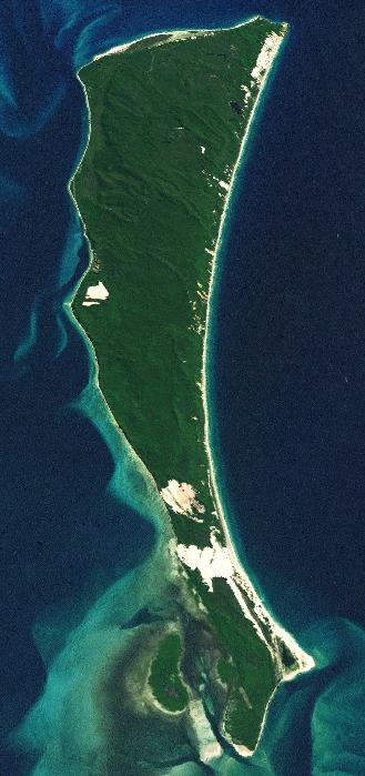 Moreton Island (Wikipedia, public domain)