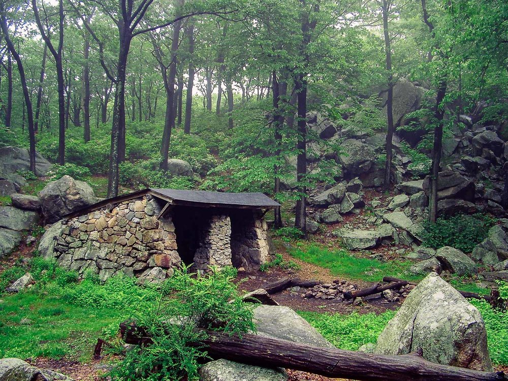William Brien Memorial Shelter, New York. Some of the shelters in New York State are old, stone structures, unlike the wooden lean-tos typically found on the A.T.