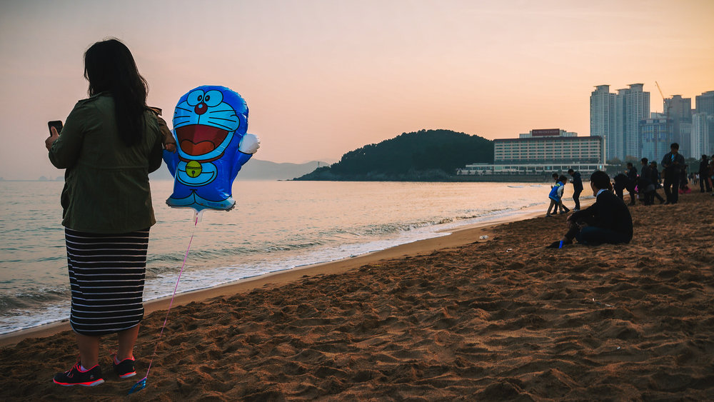 Doraemon at the Seaside, Haeundae, Busan, 2012