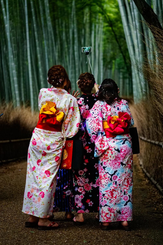 Bamboo Forest Selfies, Arashiyama, Kyoto, 2015