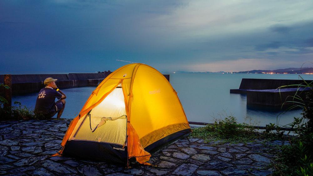 Camping in Coastal Kochi, Shikoku, During My 1st Pilgrimage, 2015