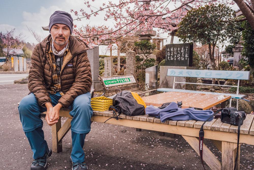 A Springtime Selfie on My 2nd Shikoku Pilgrimage, 2017
