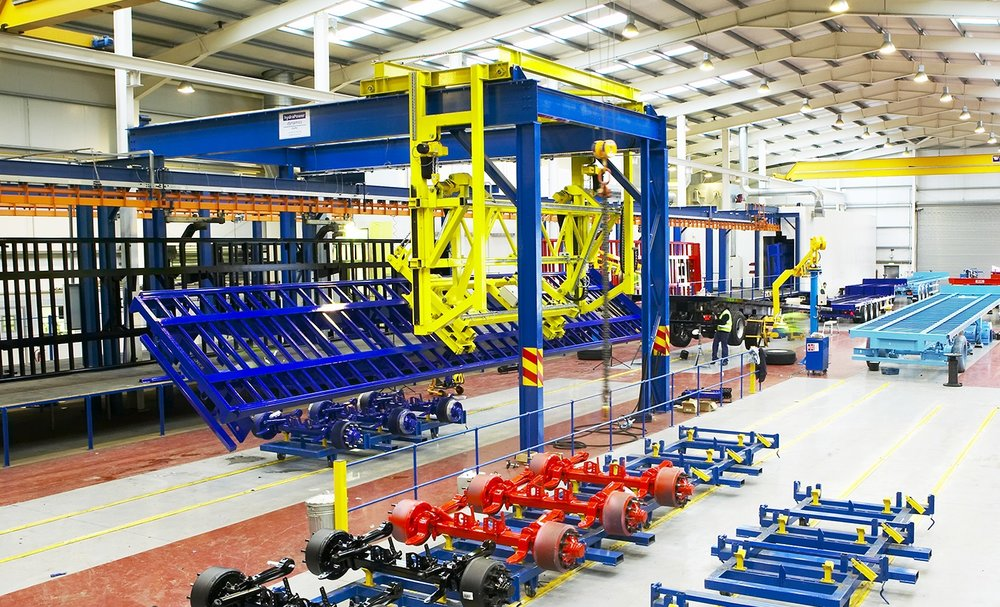 SDC:n tuotantotiloja Toomessa, Pohjois-Irlannissa