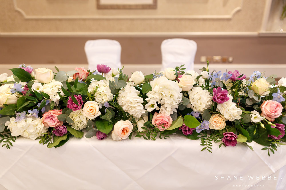 Top table arrangement florist in harrogate