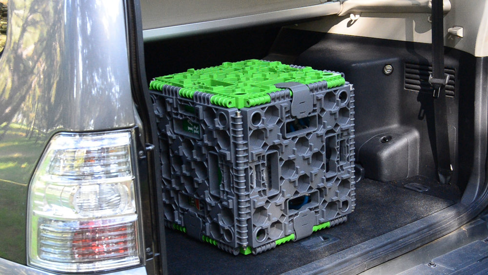 The Bogabox transformed into a unique storage crate when not used for 4x4 vehicle recovery.