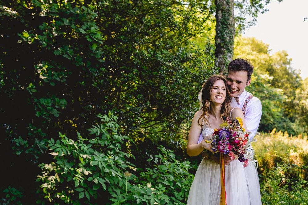 reportage natural wedding photographer devon