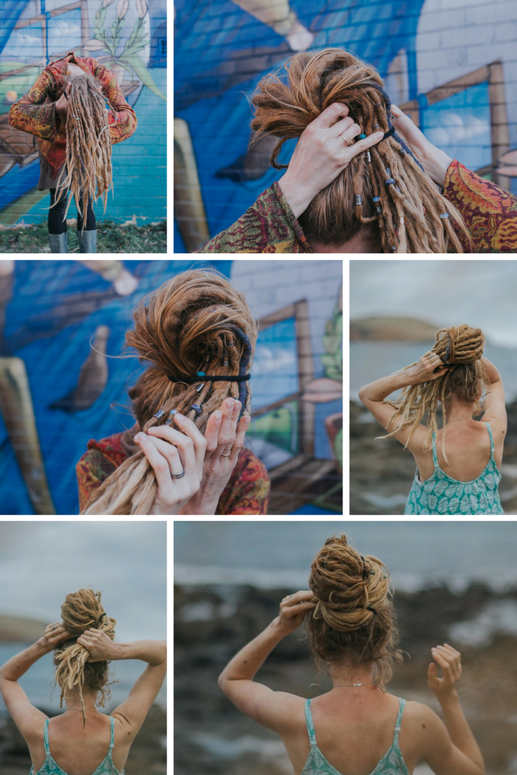 Dread-bun-tutorial