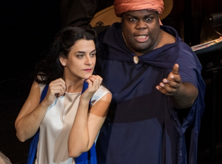 Hana Blažiková, left, as ruthless Poppea, with Reginald Mobley as her nurse. Courtesy of http://classicalvoiceamerica.org