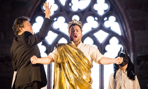 David Stout and Ben Johnson in Britten's The Burning Fiery Furnace during the Lammermuir festival.  Photo: Sally Jubb
