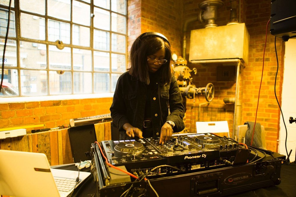 Esther Wanyama at the decks