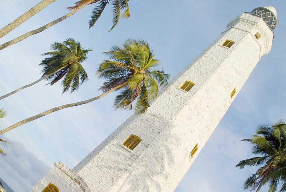 DONDRA LIGHTHOUSE   Distance 15km. Dondra Head is the most southerly point of Sri Lanka. With its 160 feet high lighthouse, it is the tallest in southern Asia. The lighthouse is located in a beautiful tropical garden and is the site of unforgettable sunsets.