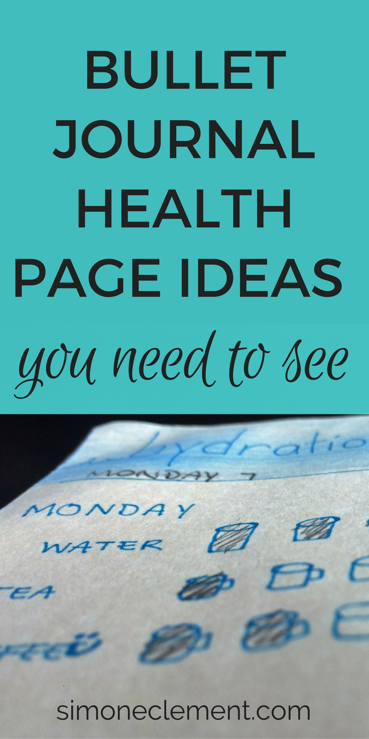bullet journal health pages health and fitness tracker ideas food log inspiration goals doodles layout spread my life track how to start a diy pages