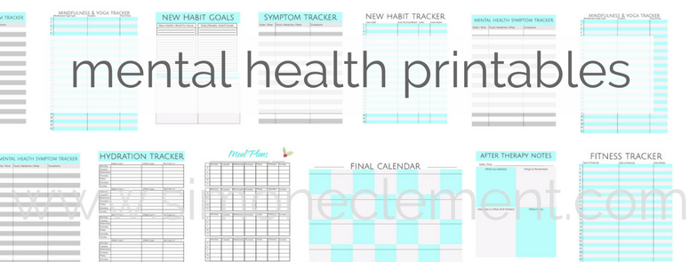 mental health printables therapy