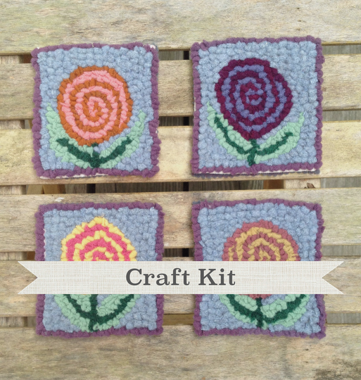 diy craft kit posies complete primitive make your own 4 inch