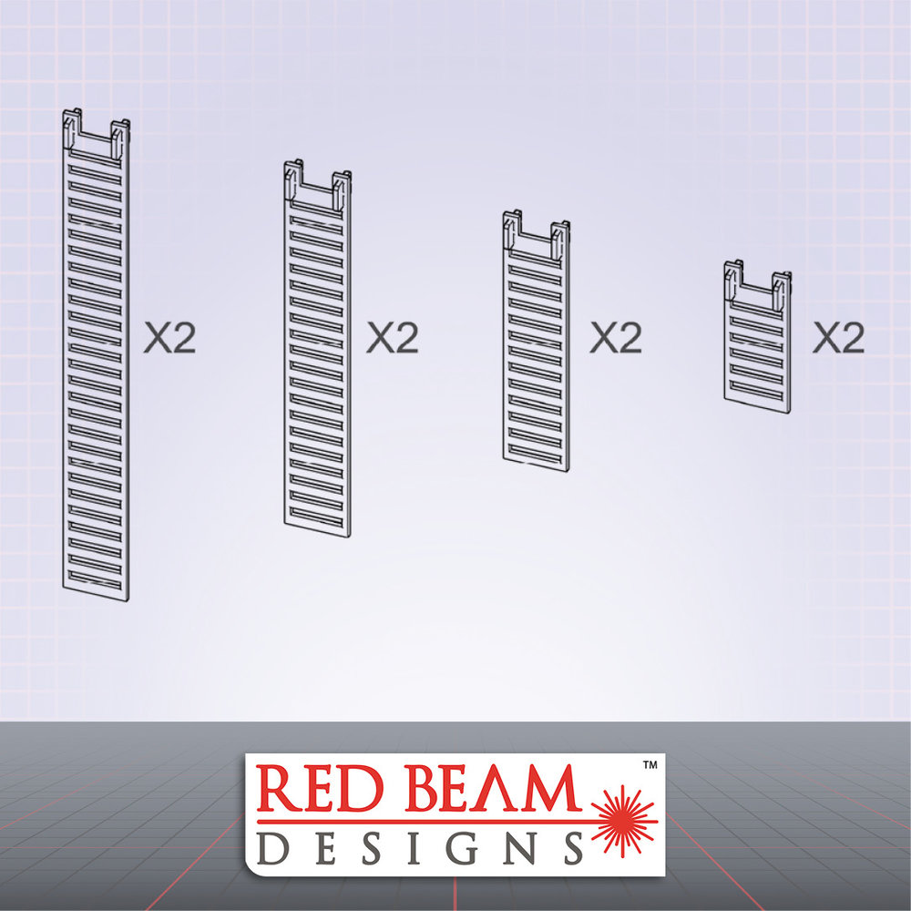 Complex Red - Clip-On Ladder Set