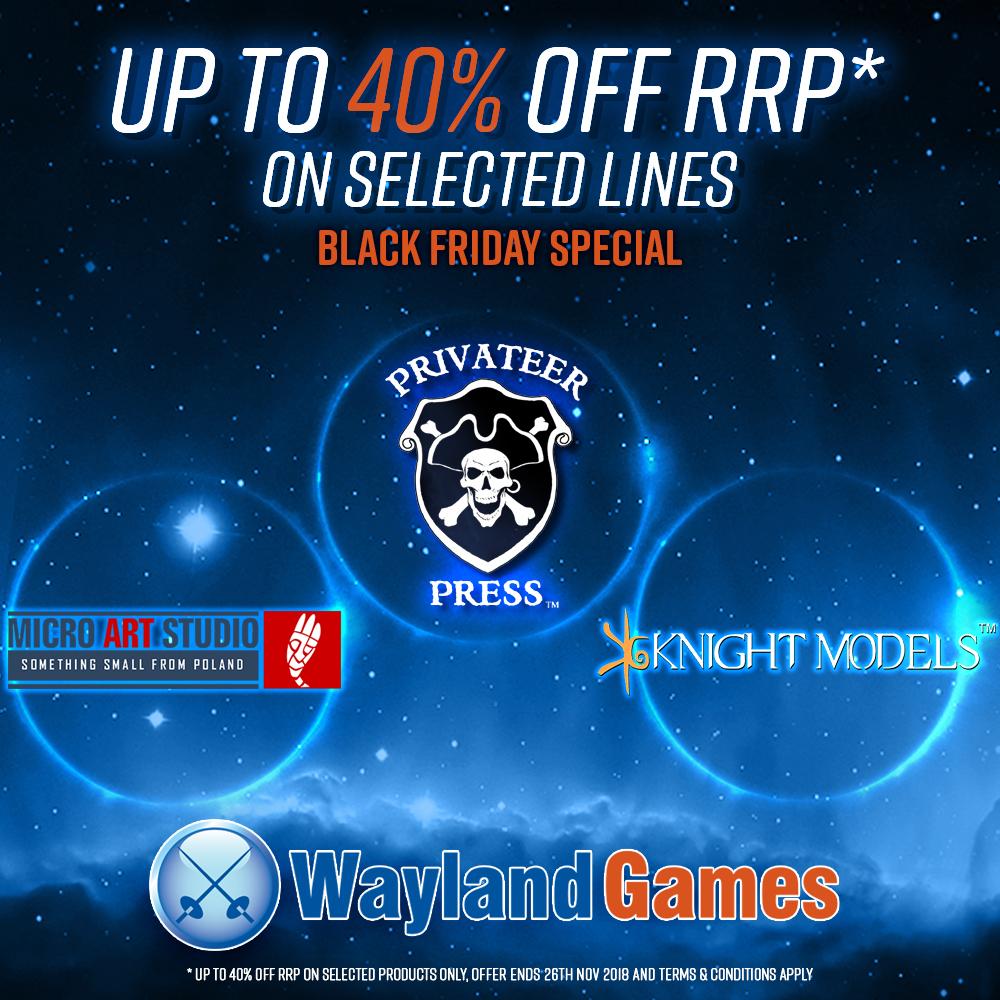 40% off - Black Friday at Wayland Games