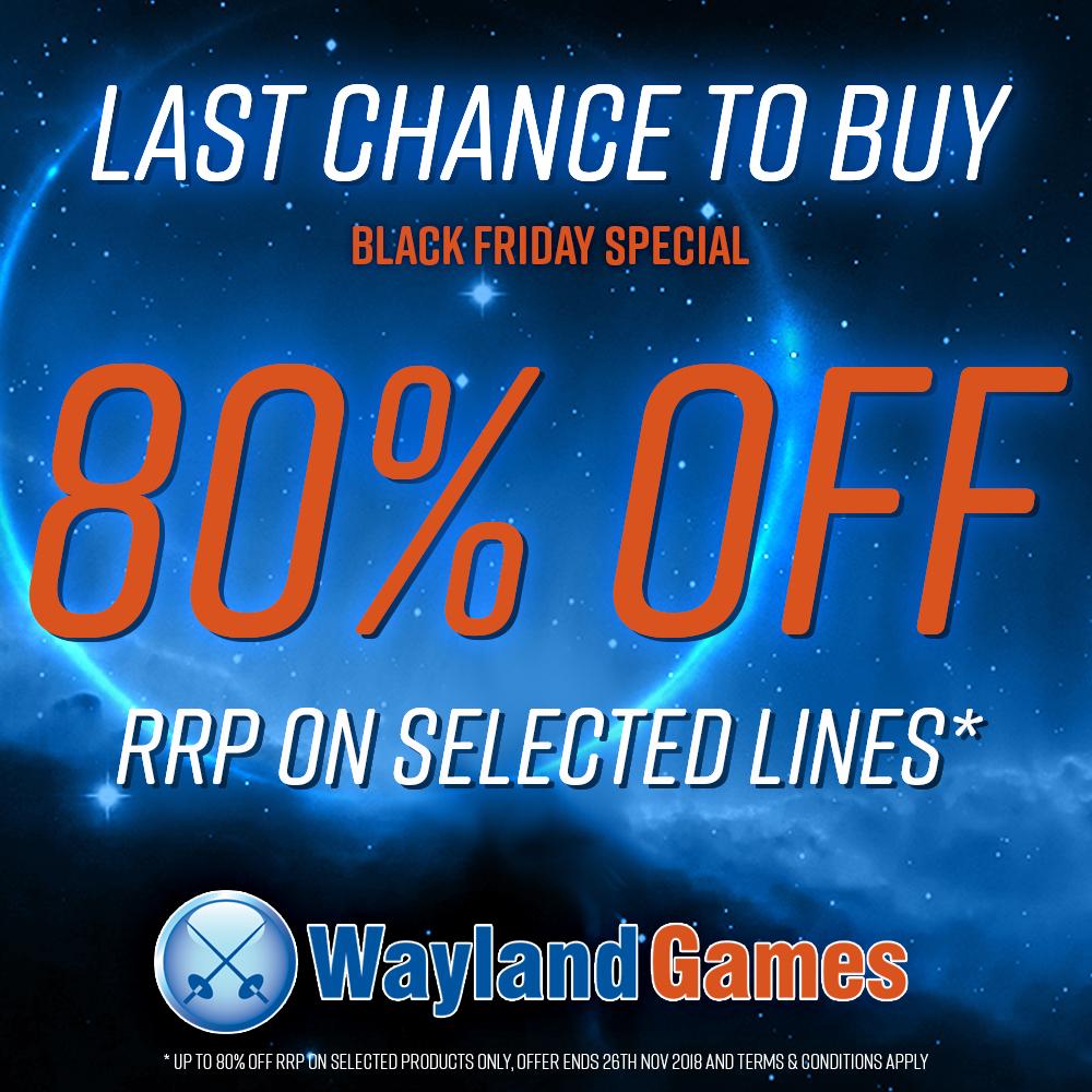 80% Off - Black Friday at Wayland Games