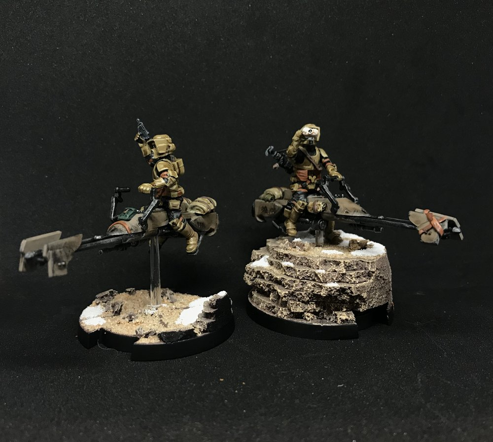 Forum Member - Themodalnodes - Survivors of Jedha Ranger Scout Bikers