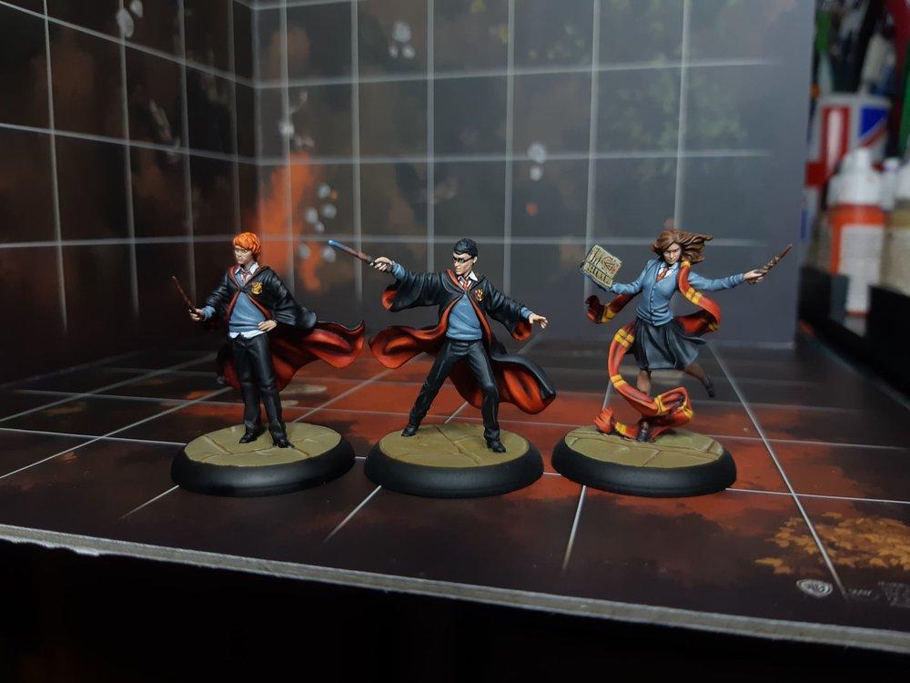 Harry, Ron & Hermione - Discordia Painting