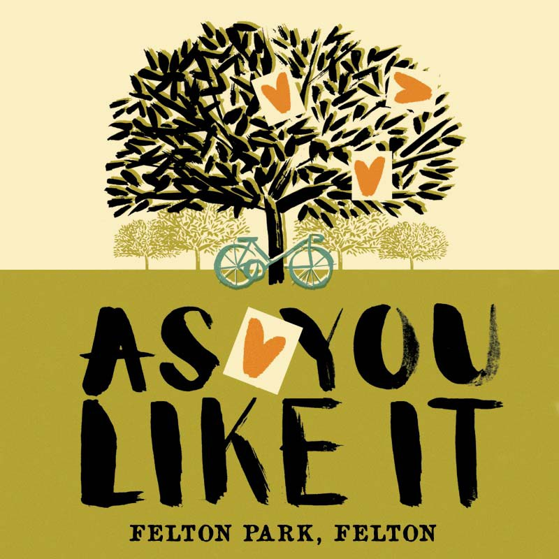 as you like it post for shakespeare play by the handlebards
