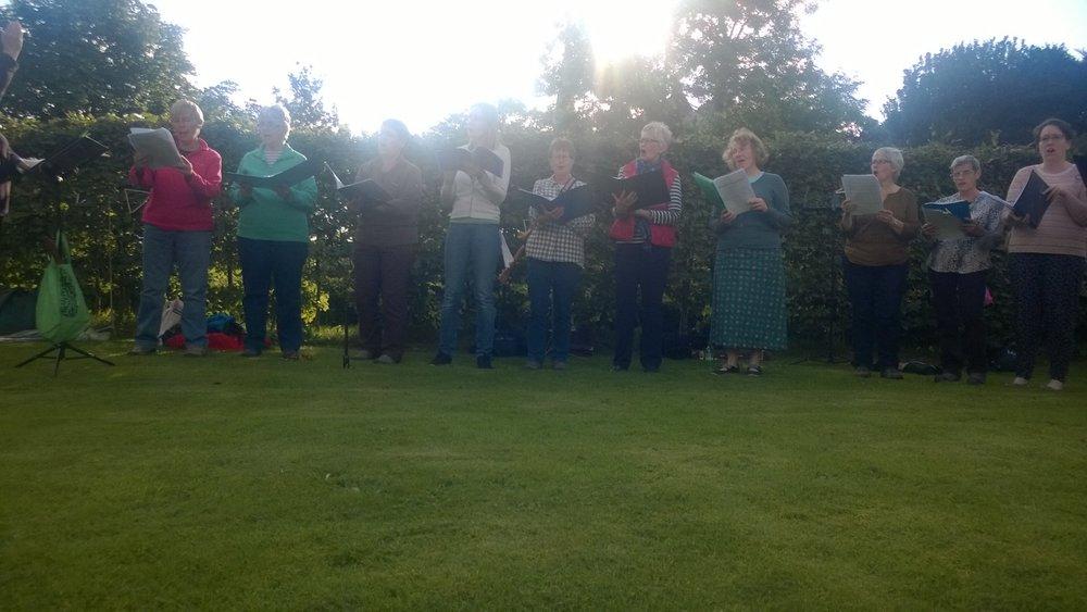 The Bridge Singers performing