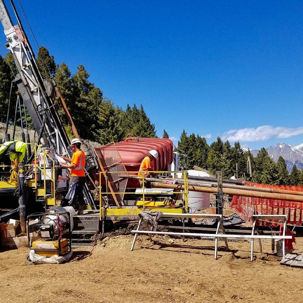 PQ core drilling, Empire Mine