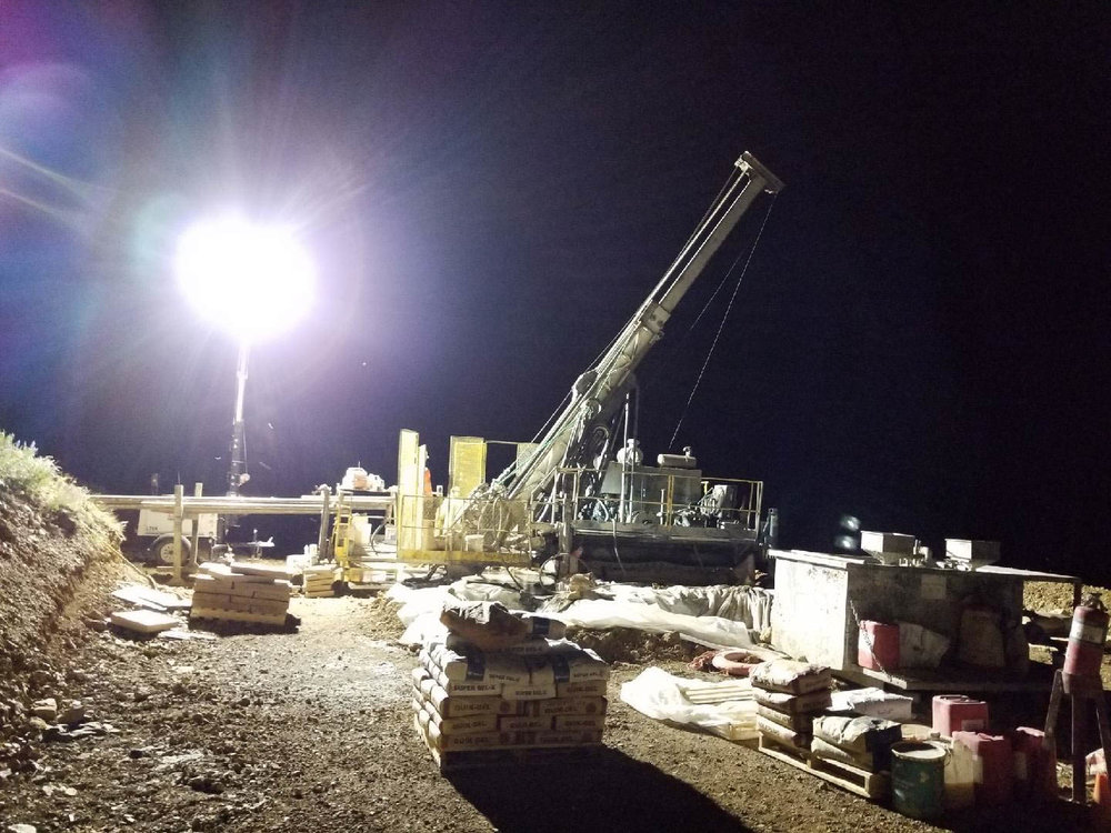 Night shift drilling at Empire 2018
