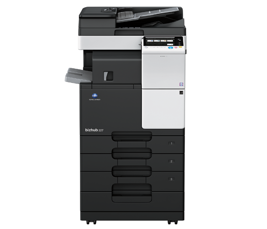 Konica Minolta Bizhub 227 Full range of Konica Minolta colour photocopier, copier leasing, printer leasing, photocopier hire, copier rental, lease copier or lease copiers