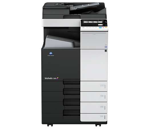 Konica Minolta Bizhub C308 Full range of Konica Minolta colour photocopier, copier leasing, printer leasing, photocopier hire, copier rental, lease copier or lease copiers