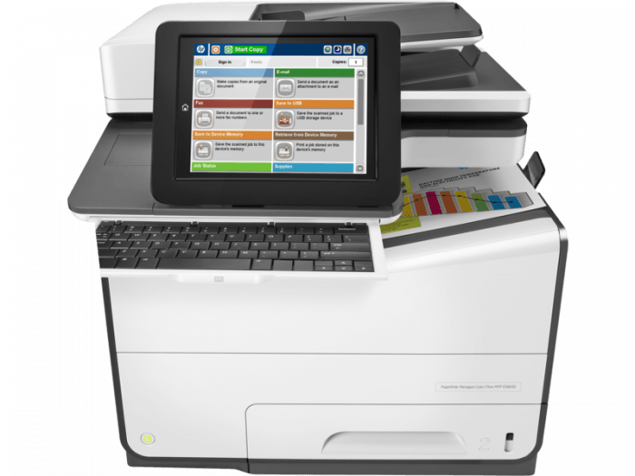 HP PageWide E58650dn - HP PageWide photocopiers. Part of the full range of HP copiers and printers, HP photocopier. Rent HP copier, rent HP printer or lease HP printer