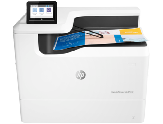 HP PageWide E75160dn - HP  pagewide photocopiers, HP pagewide printers.   HP photocopier, HP colour copier. Rent HP copier, rent HP printer, lease HP copier or lease HP printer service available
