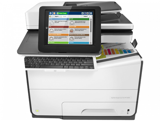 HP PageWide E58650dn - HP  pagewide photocopiers, HP pagewide printers.   HP photocopier, HP colour copier. Rent HP copier, rent HP printer, lease HP copier or lease HP printer service available