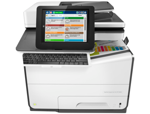 HP PageWide E58650z-  HP  pagewide photocopiers, HP pagewide printers.   HP photocopier, HP colour copier. Rent HP copier, rent HP printer, lease HP copier or lease HP printer service available