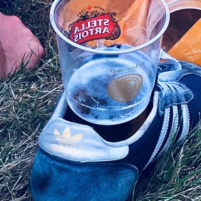 This would be disgusting anywhere else. #wimbledon2018 #beerandtrainers #borrowthebride #whatscominghome