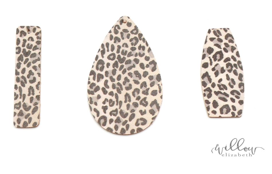 Snow Leopard - The perfect animal print for the winter, this light leopard print has a sturdy leather backing so they're great for everyday wear.