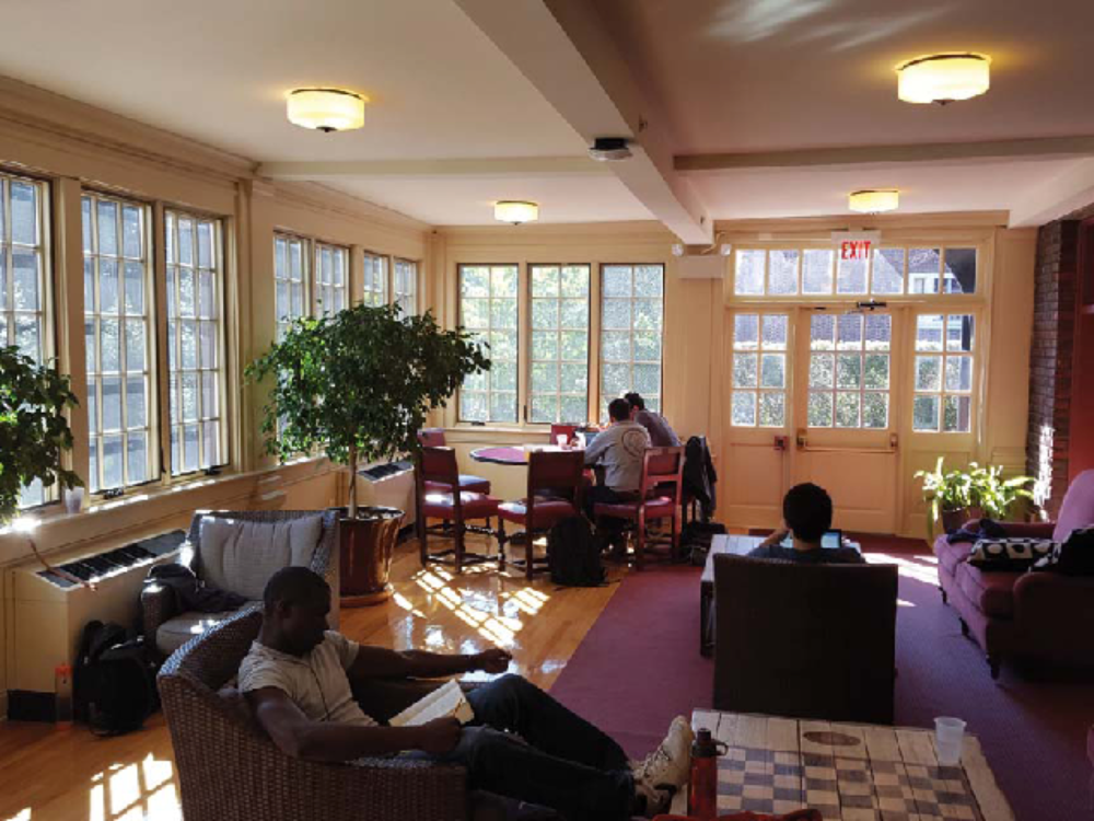 Study Space: Thanks To University Funded Wi Fi, Many Members Use The Club  Extensively During The Week To Study. The Brightly Lighted Class Of 1966  Sun Room ...