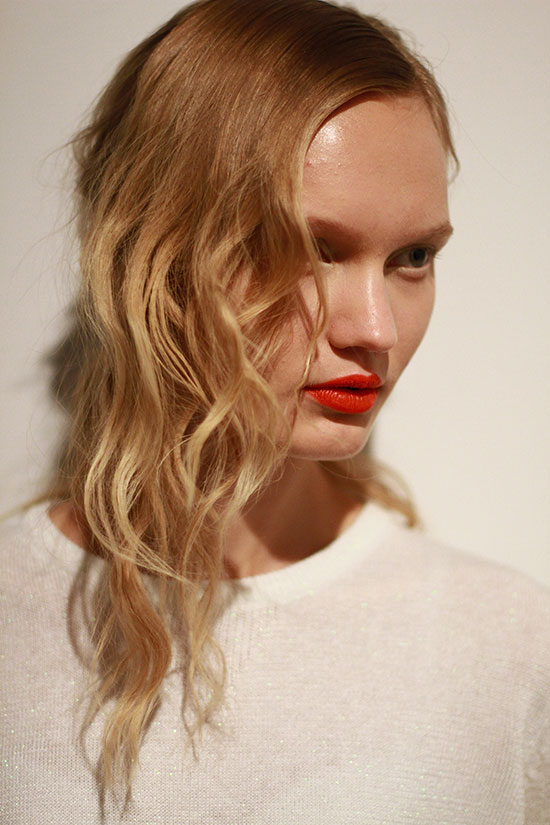 Blond ombre backstage at  Creatures of the Wind . #NYFW   Hair by Kerastase, make up by NARS    Image c/o Rachel Scroggins ( The Greyest Ghost ) for Cult of Pretty