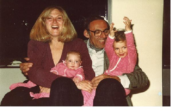 Claudia and her sister, Nicola, with her mother Harriet and her father Ulrich.