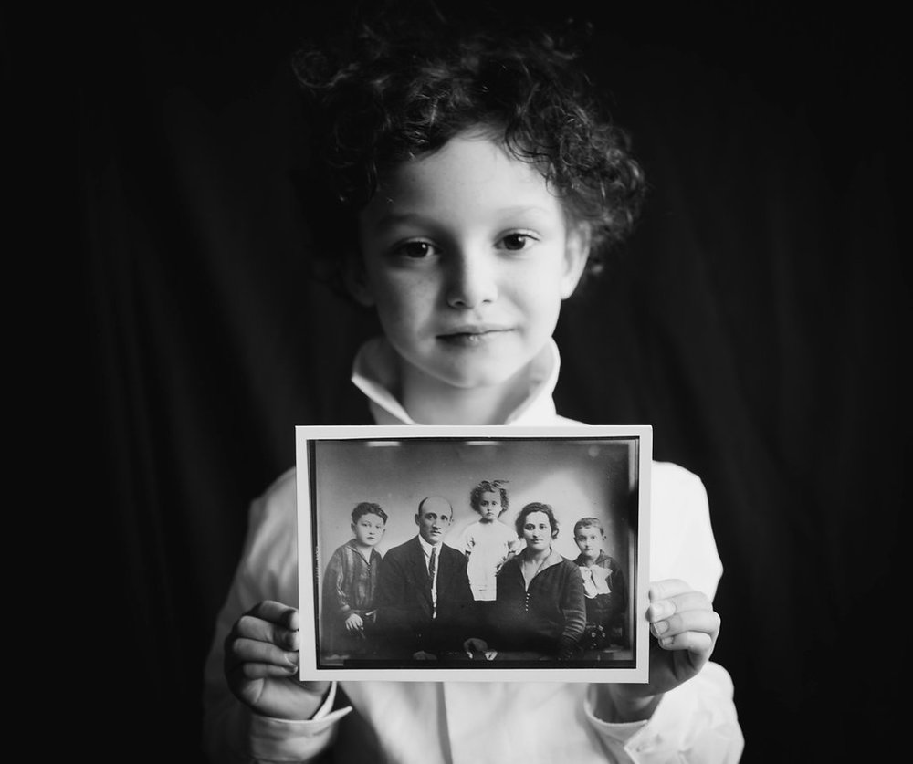 Phil's son holds the only photograph of his great-great-grandparents and great-grandmother.