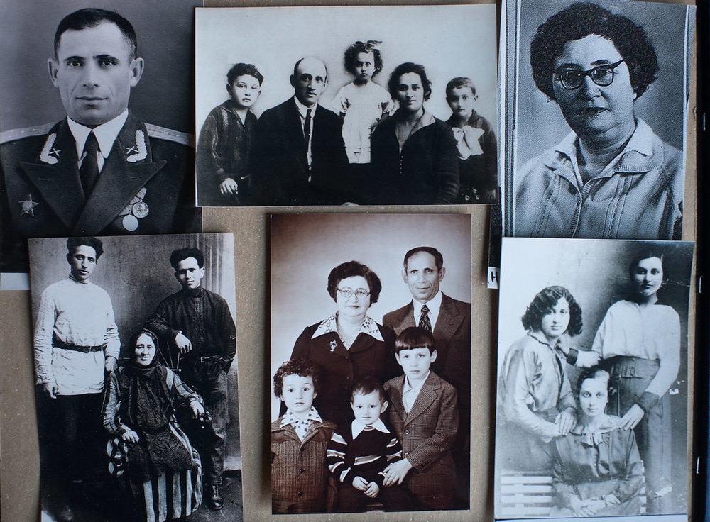 Ilya, Elena's father (upper left). Tunya, Elena's mother (upper right).