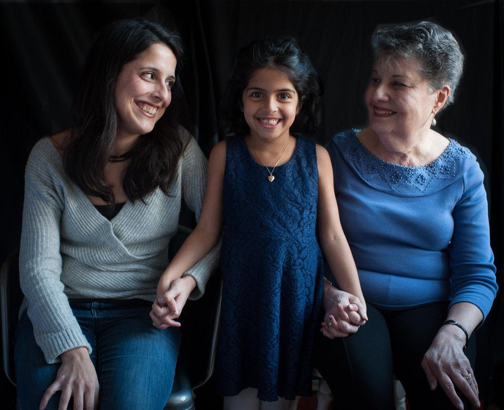 Anita, Amelia, and Charlotte (Anita's mother).