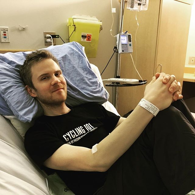 """Admitted to Foothills hospital in Calgary today. Doctors will be keeping a closer eye on me until pain (including a new stabbing sensation in my liver) and constipation are under control. A few days, a few weeks, they can't say for sure. """"I need to be able to walk again...I'm losing a lot of my muscle and strength."""" In fact, I haven't walked further than bed to couch in weeks. Time to rally, modern medicine! #apurposehidden"""