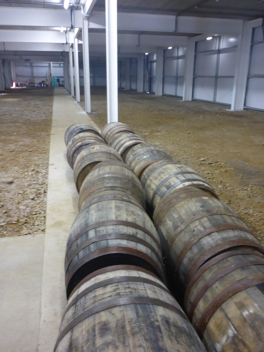 Casks ready to role in maturation building.JPG