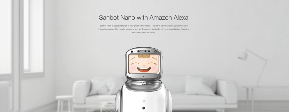 Sanbot Nano Connected To Amazon Alexa